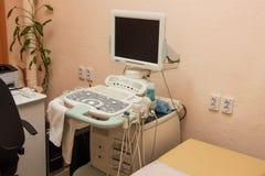 Ultrasoon apparaat voor diagnose en onderzoek van het lichaam royalty-vrije stock fotografie