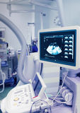 Ultrasound device in an X-ray laboratory. Royalty Free Stock Photos