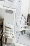 Ultrasound Diagnostic Equipment. Close up of medical ultrasound diagnostic equipment Stock Photo