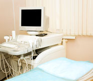 Ultrasound diagnostics. Room in a hospital for ultrasound diagnostics stock photo