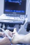 Ultrasound ecography EPI physiotherapist Stock Photos