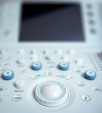 Ultrasound equipment. Diagnostics. Sonography background Stock Photo
