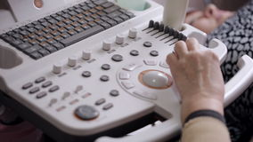 Ultrasound equipment. Diagnostics. Sonography. stock footage