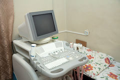 Ultrasound equipment in medical clinic Royalty Free Stock Photography