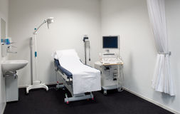 Ultrasound exam room Royalty Free Stock Photo