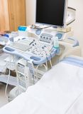 Ultrasound Machine And Bed Stock Image