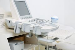 Ultrasound Machine In Clinic Stock Images