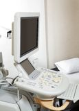 Ultrasound Machine At Clinic. Ultrasound machine for medical examination at clinic Royalty Free Stock Photo