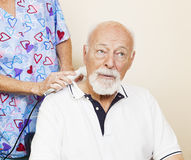 Ultrasound Pain Relief Stock Image