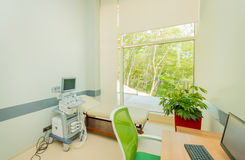 Ultrasound scanning equipment in the hospital Stock Photos