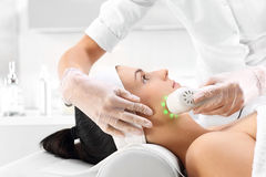 Ultrasound, a woman in the beauty salon Royalty Free Stock Photos
