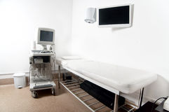 Ultrasound x-ray exam room in hospital or private medical clinic Stock Photography