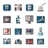 Ultrasound X-ray Icons Flat Stock Images