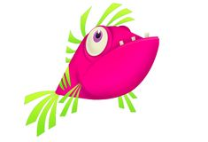Ultratropical Pink Fish Stock Image