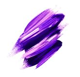 Ultraviolet brush painted acrylic background. Stock Photos