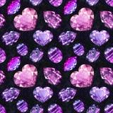 Ultraviolet gems seamless pattern 4 Royalty Free Stock Image