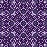 Ultraviolet geometrical seamless pattern in the Bulgarian style.  Stock Photo