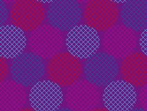 Ultraviolet geometry round seamless pattern Stock Image