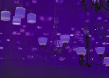 Free Ultraviolet Lights Hanging From Ceiling Stock Photo - 111891070