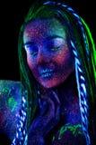 Ultraviolet make-up stranger royalty free stock images
