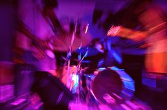 Ultraviolet music scene with monster appearance. Stock Images