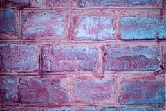 Ultraviolet and pink brick wall. Retro vintage glamour fashion b. Ackground Stock Photos