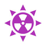 Ultraviolet radiation vector icon Royalty Free Stock Photo