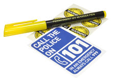 Ultraviolet Security Marker Pen Royalty Free Stock Photography