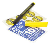 Ultraviolet Security Marker Pen Stock Photo