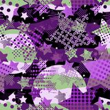 Ultraviolet stars background Vector Illustratie