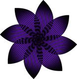 An ultraviolet vector flower. A fully editable Vector EPS file depicting an ultraviolet, color of the year flower Royalty Free Stock Photos