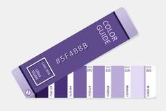 Ultraviolet vector palette guide royalty-vrije illustratie
