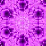 Ultraviolett sexhörnig mandalalutningbakgrund med flor Fotografering för Bildbyråer