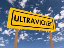 Ultraviolett tecken Arkivbild