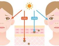 Ultravioletta strålar royaltyfri illustrationer