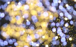 ultraviolette Farbe und Gelb des bokeh Sternlichtes Lizenzfreies Stockfoto