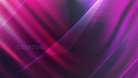 Ultravioletter abstrakter gewellter Neonhintergrund lizenzfreie abbildung