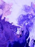 Ultravioletter abstrakter handgemalter Hintergrund Lizenzfreies Stockfoto