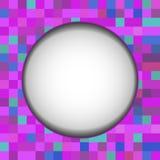 Ultravioletter Hintergrund für die Fahne, von den Quadraten - vector eps10 Lizenzfreies Stockbild