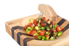 Ulu Knife and Chopped Peppers #1 Stock Photo