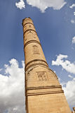 Ulu Mosque Minaret, Mardin-Turkey. The mosque is located in historic core of Mardin. It has numerous inscriptive plaques from the Seljuk, Artuqid, Aq Qoyunlu and Royalty Free Stock Photos