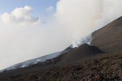 Żużlu rożek na erupcyjnej szczelinie Zdjęcia Royalty Free