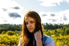 ulubiona dziewczyna sezonu lato Zdjęcia Stock