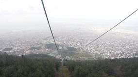 ULUDAG, BURSA, TURKEY - MAY 2015: Cableway to Winter Sport stock footage