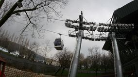 ULUDAG, BURSA, TURKEY - MAY 2015: Cableway to Winter Sport stock video