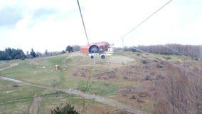 ULUDAG, BURSA, TURKEY - MAY 2015: Cableway to Winter Sport stock video footage