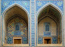 Ulugh bedelt Madrassah in Samarkand Stock Foto's