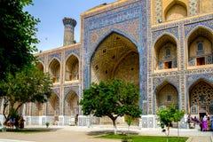 Ulugh Beg Madrasah on Registan square, Samarkand Stock Photos