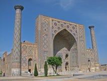 Ulugh Beg madrasah in Samarkand Royalty Free Stock Images