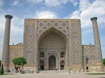Ulugh Beg madrasah in Samarkand Stock Image